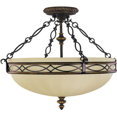 450x450 Feiss Walnut Drawing Room Light Semi Flush Ceiling
