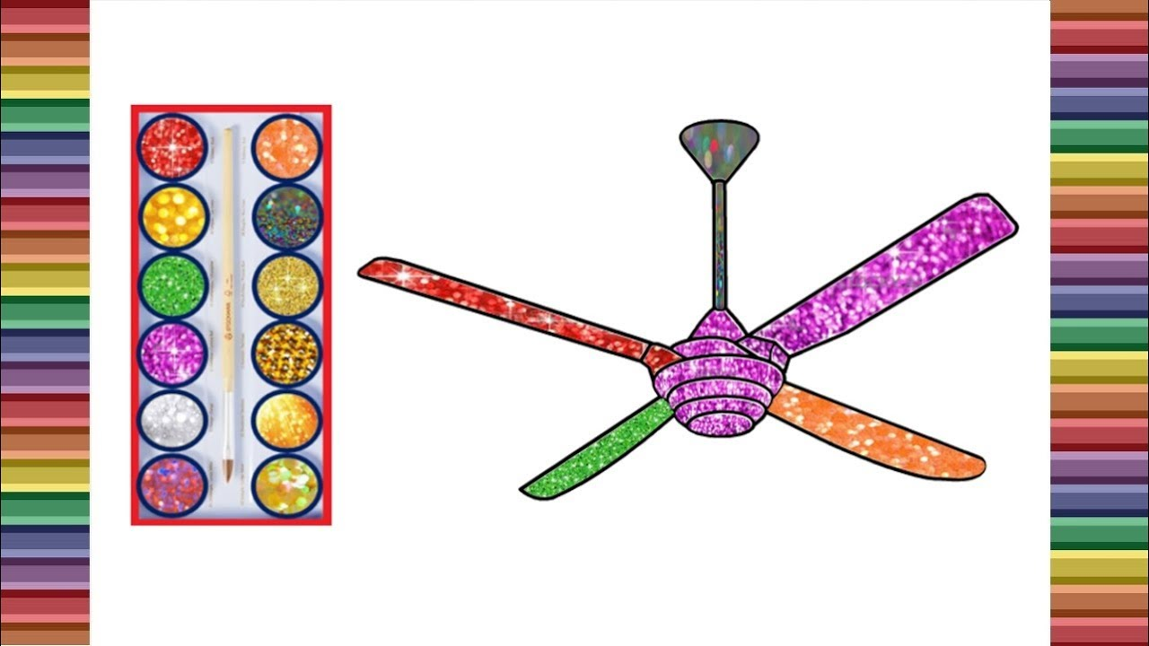 1280x720 Ceiling Fans Drawing For Kids Learn Colors For Kids When