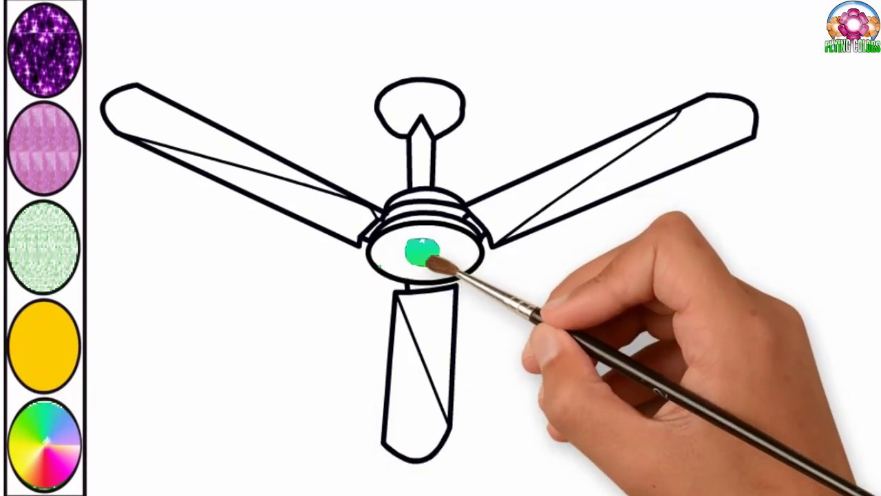 1280x720 easy ceiling fan coloring book for children electric table fan