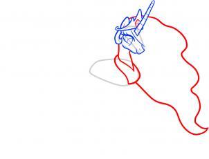 302x230 Drawing Printout How To Draw Celestia, Celestia, My Little Pony