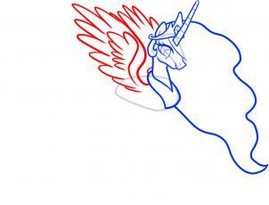 302x230 How To Draw Celestia, Celestia, My Little Pony, Step