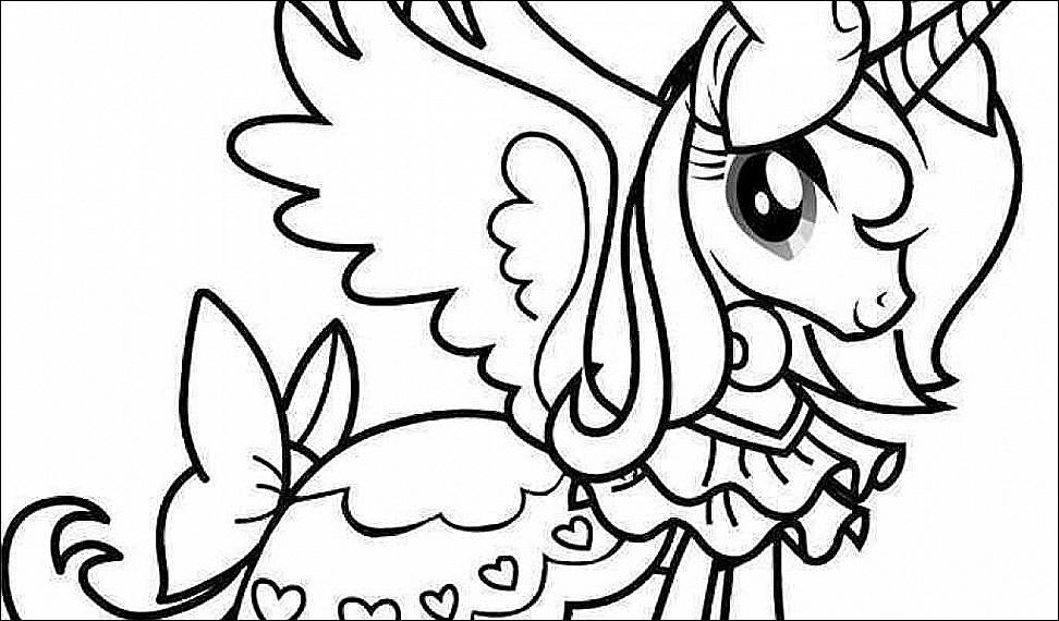 972x570 Mlp Coloring Pages Princess Celestia Download