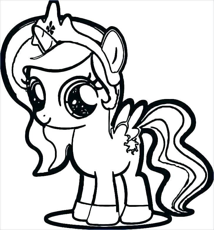 728x783 Princess Celestia Coloring Pages My Little Pony Baby Coloring