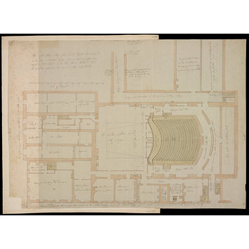 355x355 plan of the cellar story of the theatre royal covent garden as it