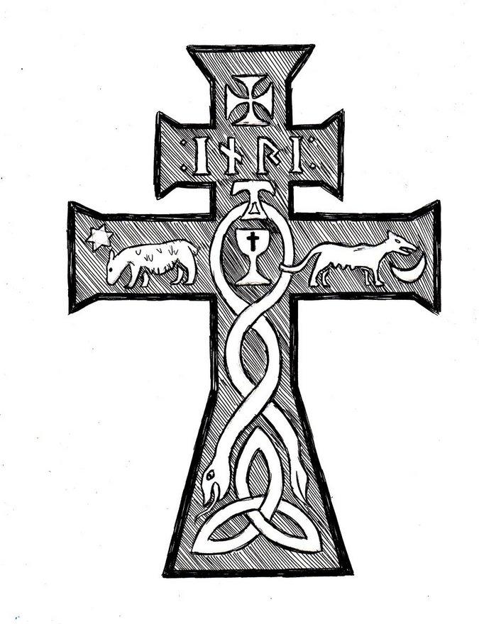 Celtic Cross Drawing