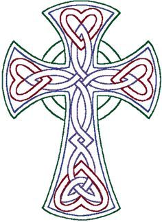 236x323 redwork celtic trinity knot cross embroidery design celtic,irish