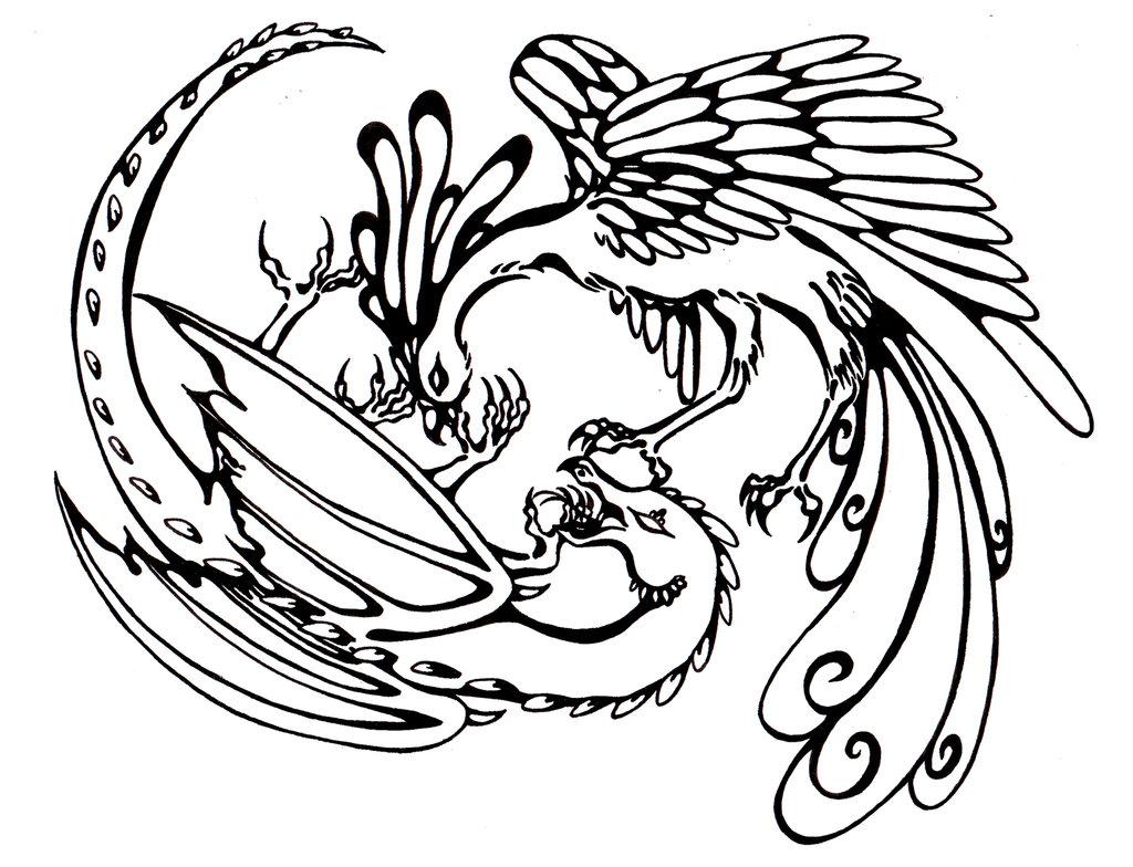 Celtic Dragon Drawing
