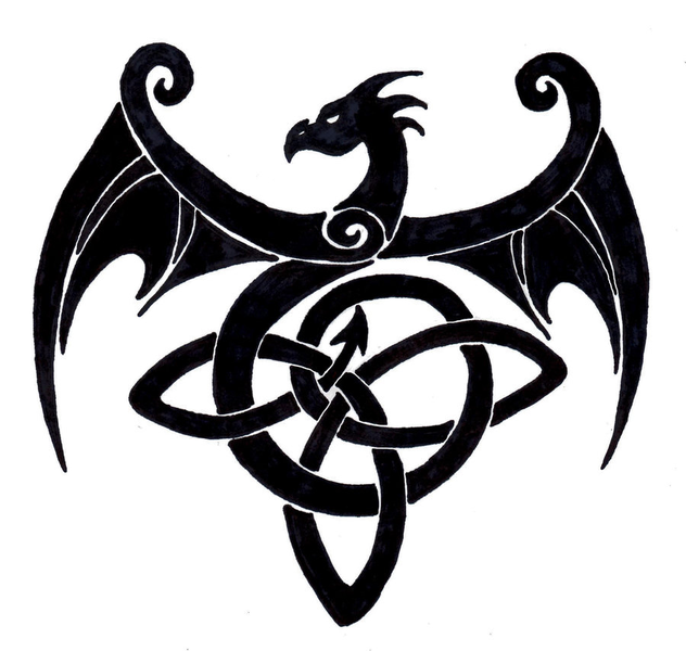 632x600 celtic dragon knot cross stitch celtic dragon tattoos, celtic