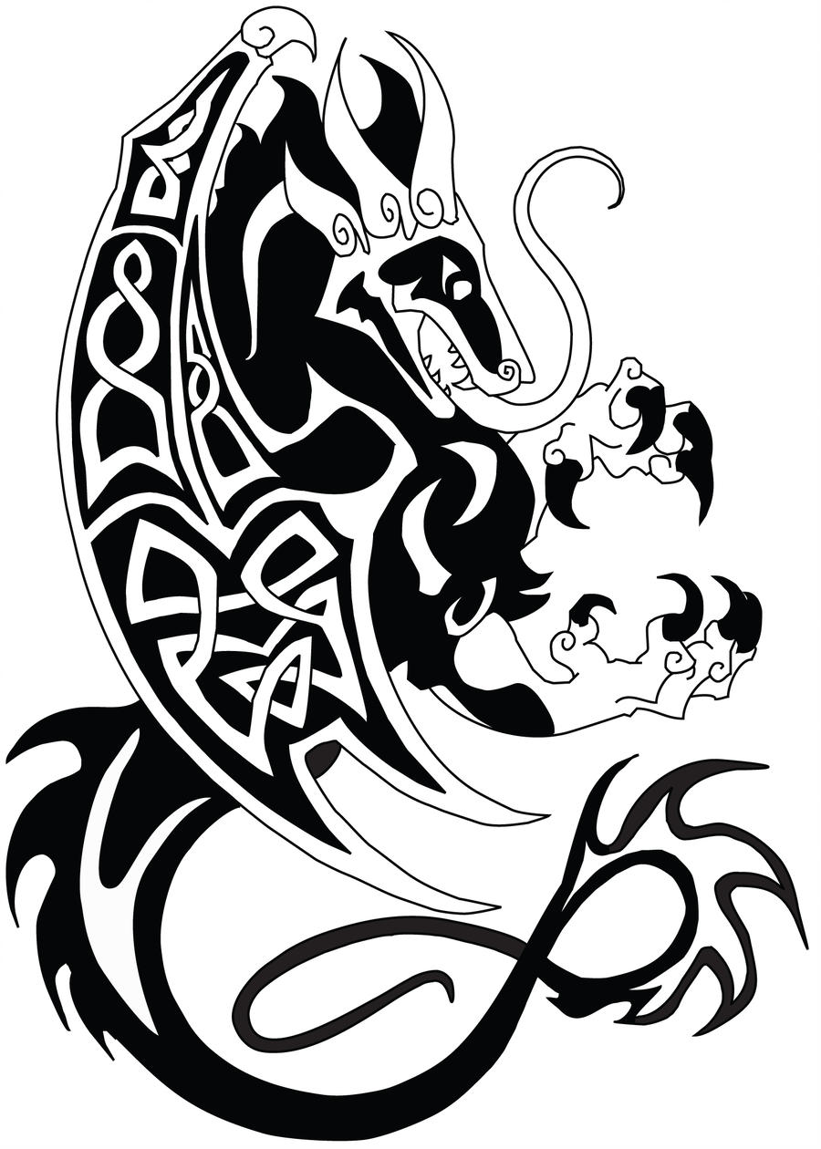 Celtic Dragon Drawing | Free download on ClipArtMag