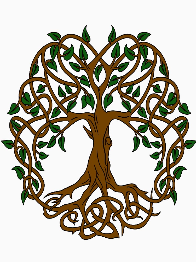 750x1000 Celtic Knot Tree Of Life T Shirt
