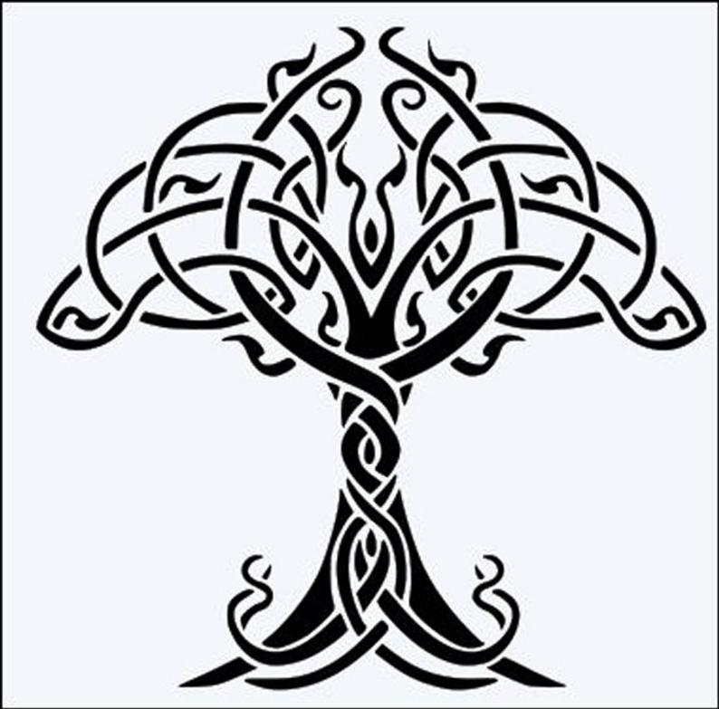 794x783 celtic tree of life micron mylar stencil durable and etsy