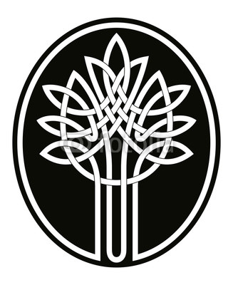 327x400 Vector Celtic National Drawing Tree Of Life Isolated On White