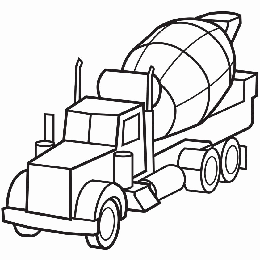 Cement Truck Drawing