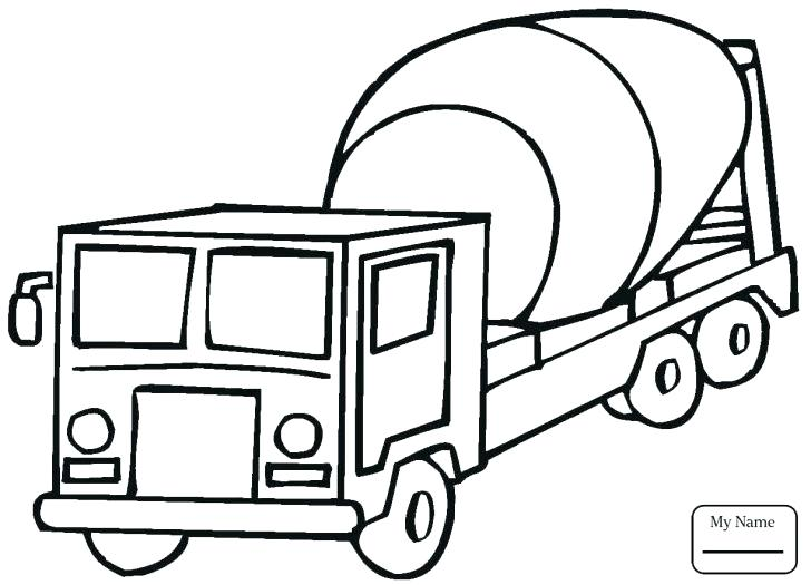 728x525 Cement Mixer Coloring Pages Medium Size Of Coloring Pages