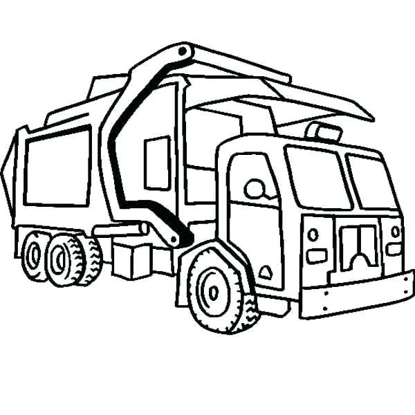 600x600 Cement Truck Coloring