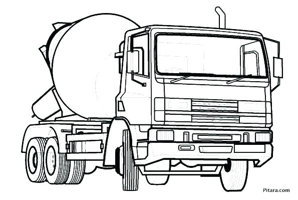 595x399 Cement Truck Coloring