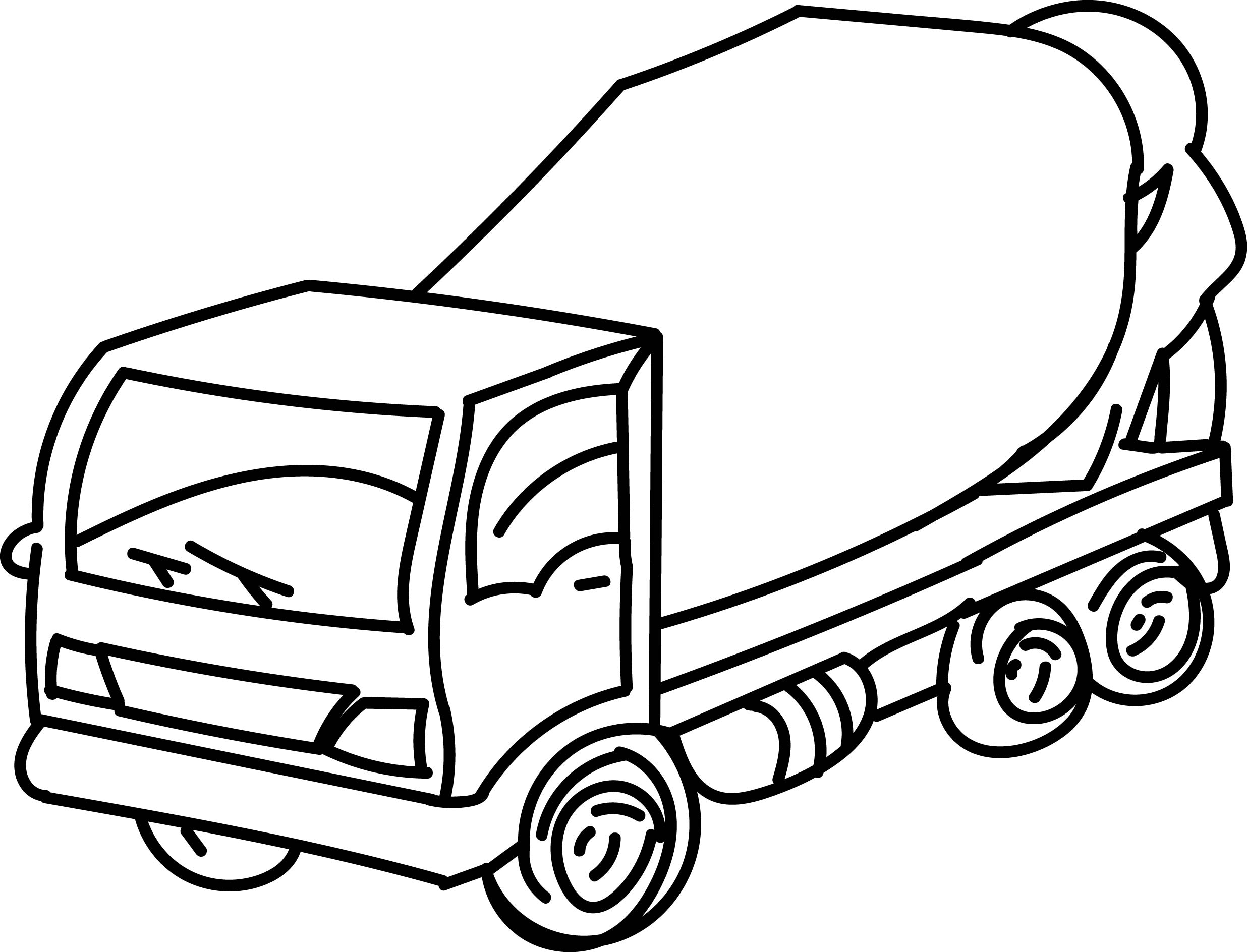 2472x1888 Cement Truck Go Coloring
