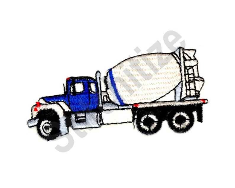 794x635 Cement Truck Machine Embroidery Design Embroidery Patterns Etsy