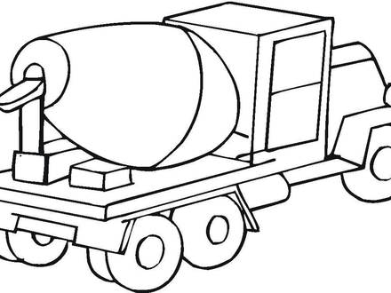 440x330 cement mixer coloring page, cement mixer coloring