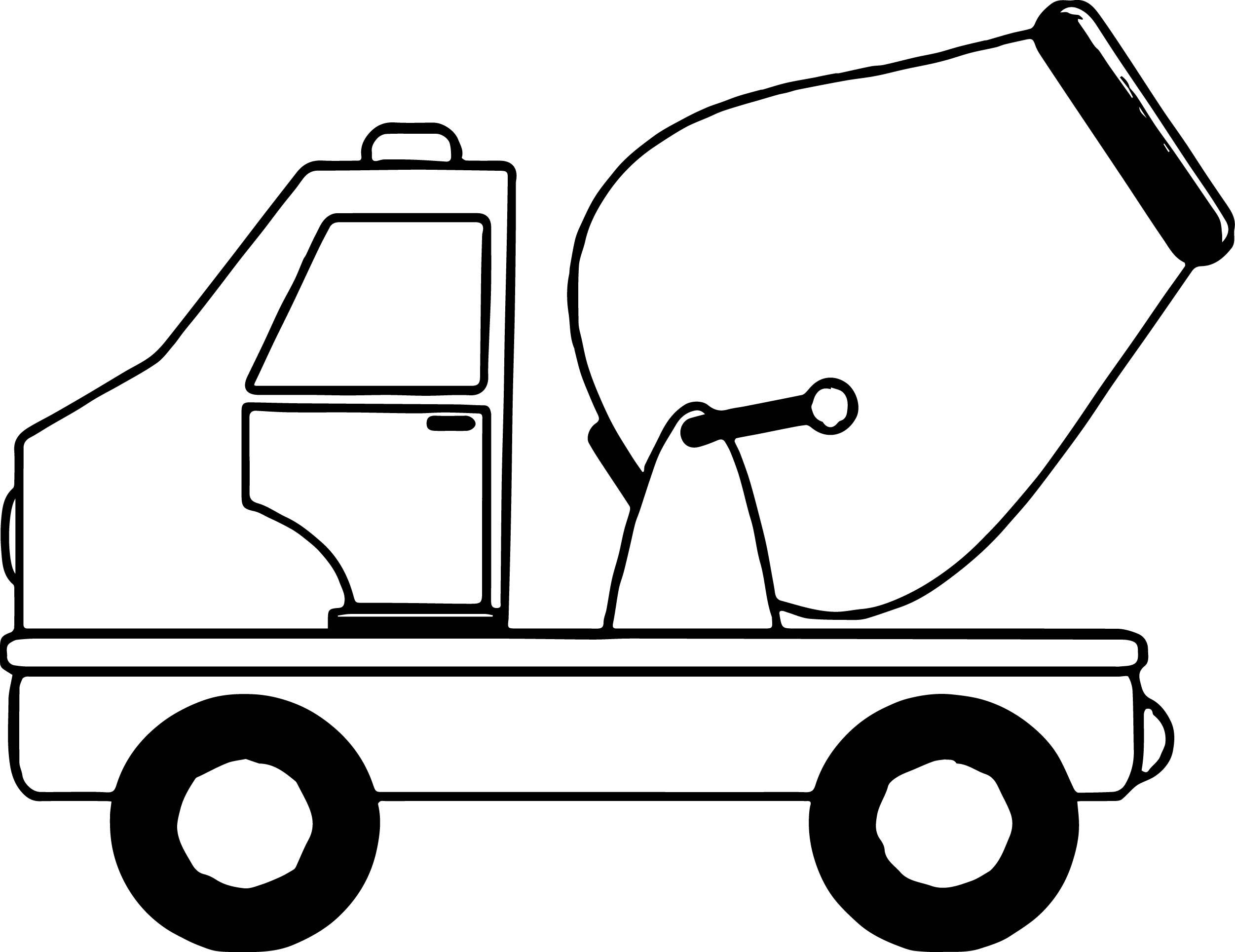 2503x1929 Cement Truck Mini Coloring