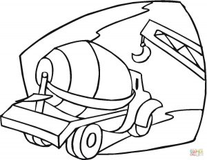300x232 Coloring Pages Cement Truck Coloring Pages