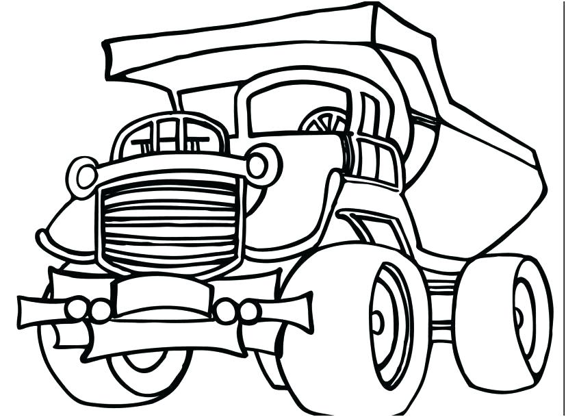 827x609 Elegant Cement Truck Coloring