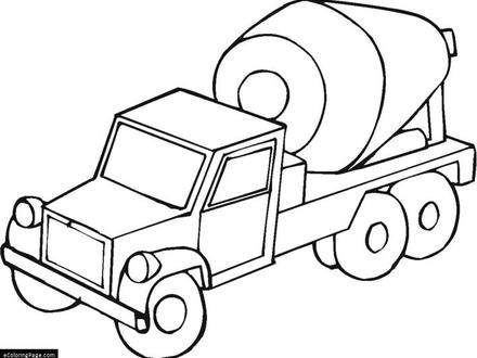 440x330 Free Coloring Pages Of Concrete Truck, Cement Mixer Coloring