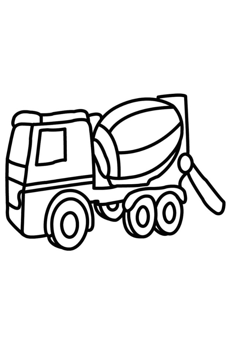 735x1102 How To Draw A Concrete Mixer Truck Learn Colors For Kids