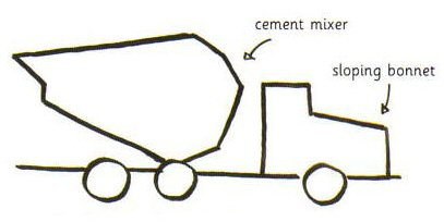 407x204 How To Draw A Cement Mixer