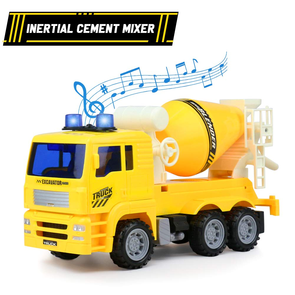 1001x1001 Tractor Toy Cars Cement Mixer Toy Truck With Light And Sound