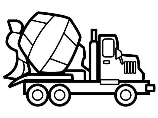 533x400 Vehicles Coloring Pages Cement Truck