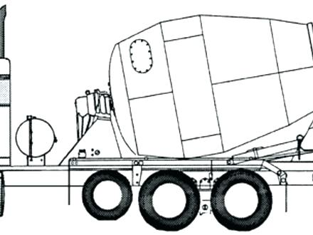 440x330 Cement Mixer Coloring
