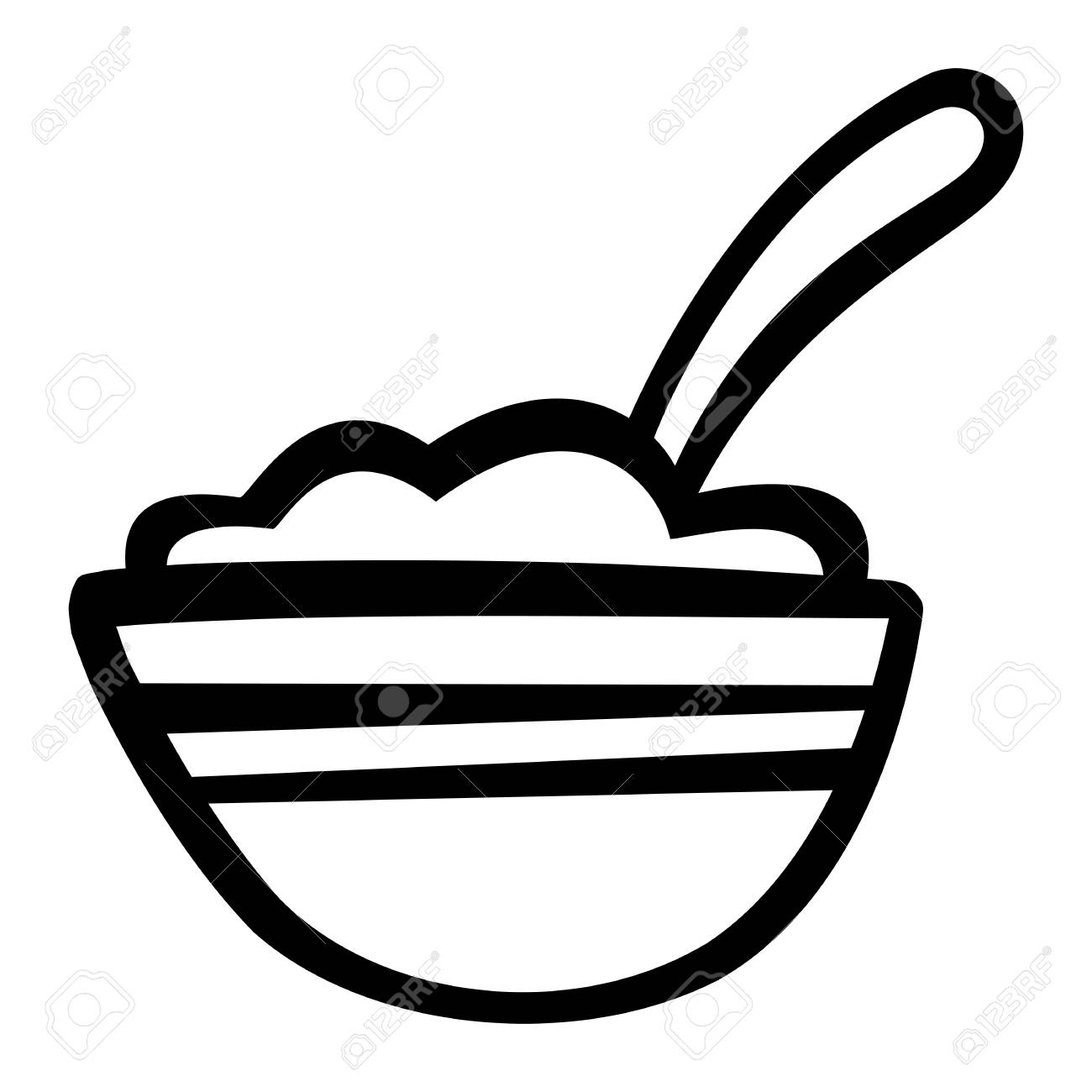 1300x1300 cereal bowl drawing bowl of cereal drawing bowl of cereal icon