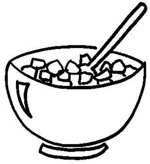 310x338 Cereal Box Clipart Black And White Cereal Clipart Black
