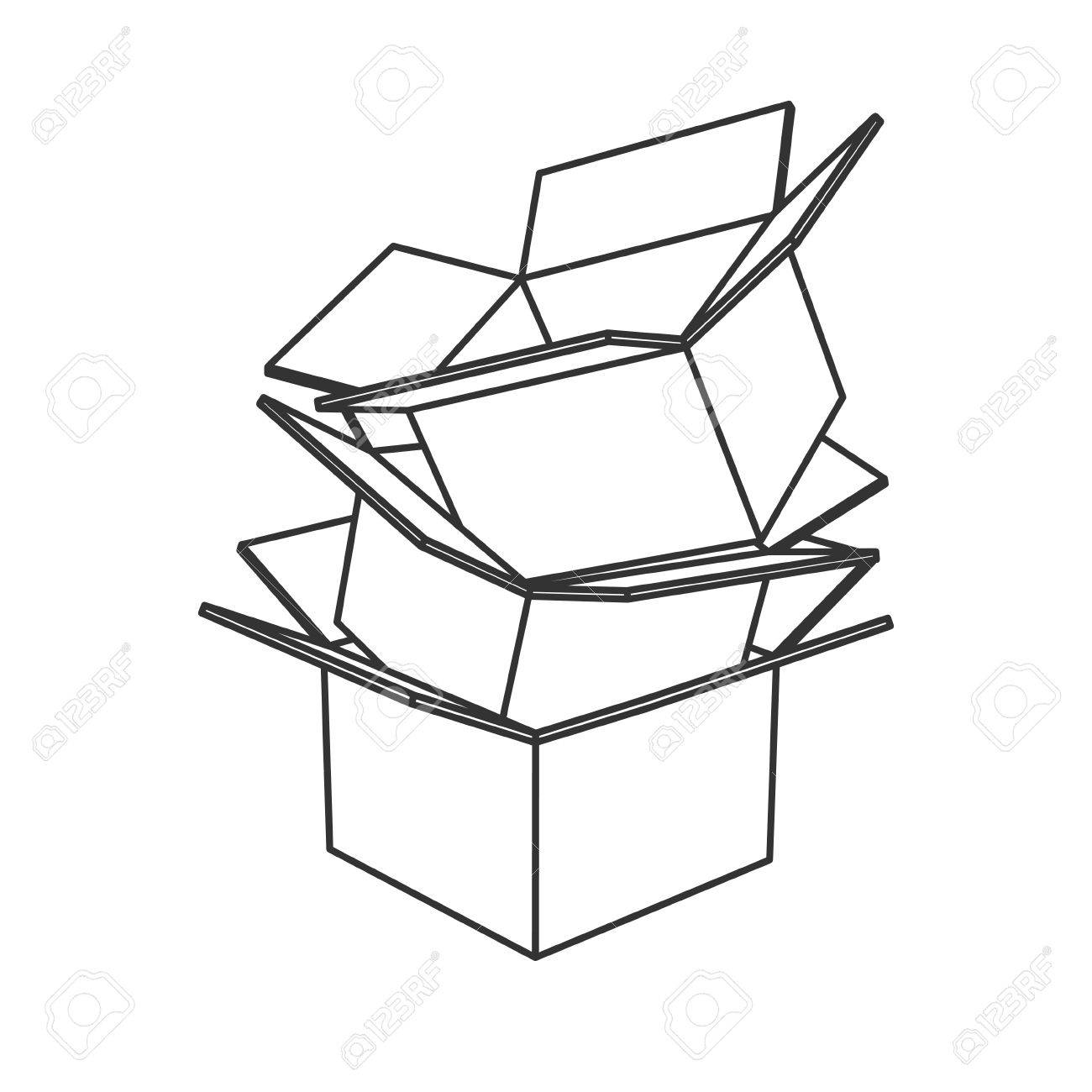 1300x1300 Cereal Drawing Cardboard Box Line For Free Download