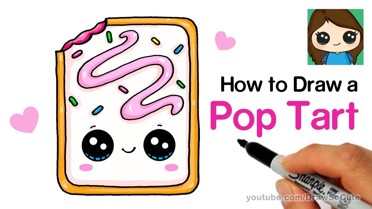 1280x720 How To Draw A Cute Pop Tart Easy