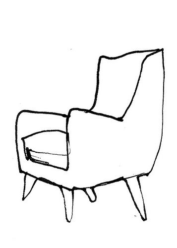 357x500 Chair Sketch Misc Drawing Furniture, Chair Drawing, Furniture