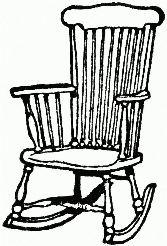 561x829 Chair Drawing Old Fashioned For Free Download