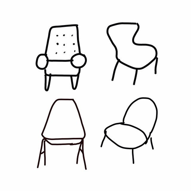640x640 Chair Drawing Simple For Free Download