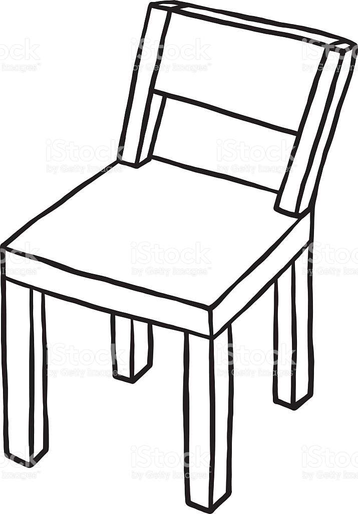 715x1024 Chair Drawing Black For Free Download