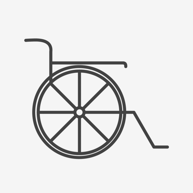 640x640 wheel chair line black icon, wheel chair, chair, handicapped png