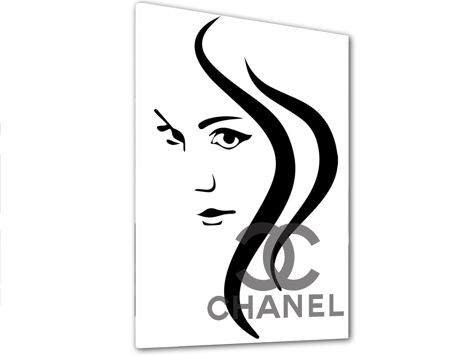 1600x1200 chanel painting inspiration woman's face modern painting canvas