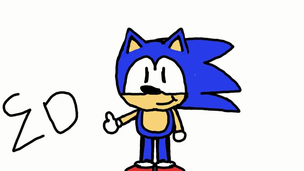 1024x576 Sonic Speed Draw Drawing I Did For My Youtube Channel Sonic