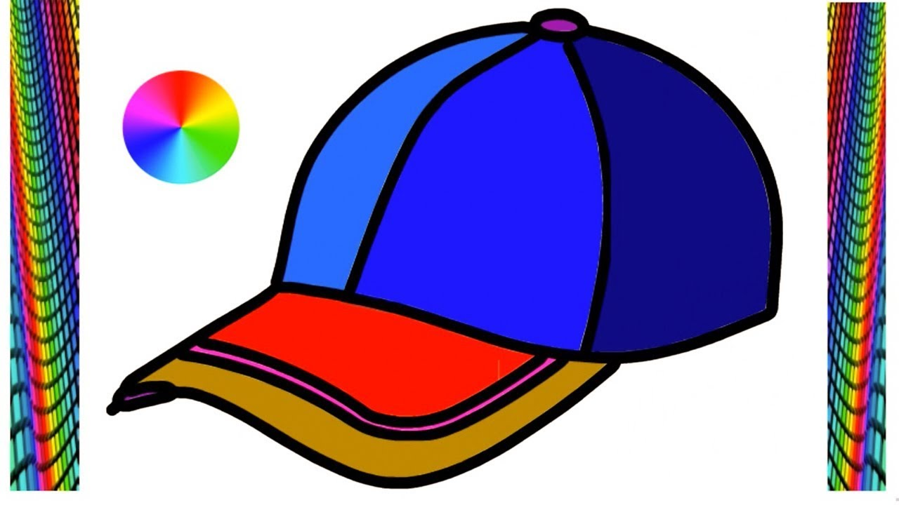1280x720 Cap Drawing Easy For Kids Step