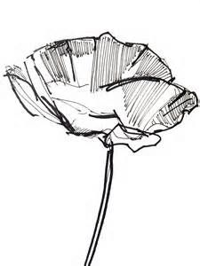 225x300 Simple Flower Drawing Poppy