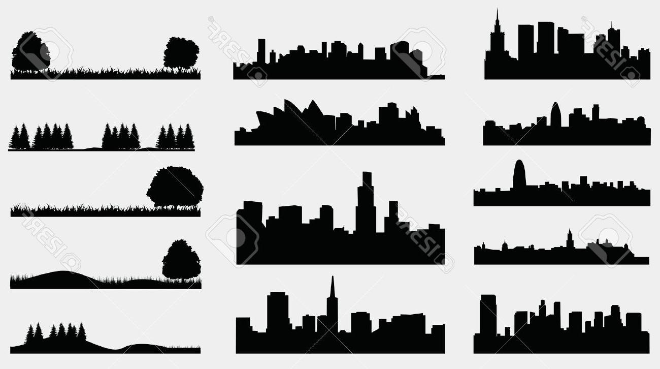 1300x726 silhouette drawing landscape and city landscape drawing luxury