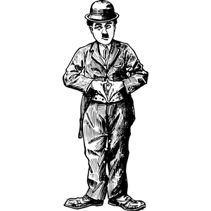 300x300 charlie chaplin clipart, cliparts of charlie chaplin free download