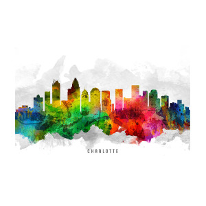 300x300 Charlotte North Carolina Cityscape Painting