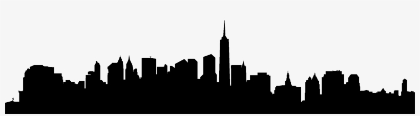 820x227 Silhouette City Skylines At Getdrawings
