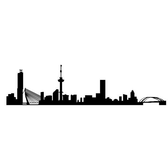 584x584 Skyline Rotterdam Graphic
